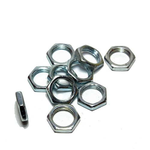 Low Profile Zinc Plated M10 x 1mm Pitch Hex Nuts